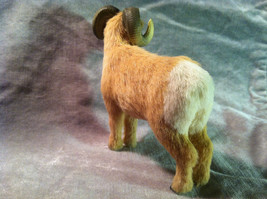 Big Horn Ram - Male Sheep - Animal Figurine - recycled rabbit fur image 5