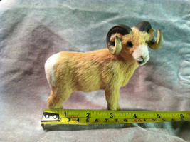 Big Horn Ram - Male Sheep - Animal Figurine - recycled rabbit fur image 7