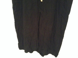Betsys Things Size 12 Short Sleeve Black Dress Front Slit 18 Buttons on Front image 3