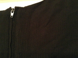Betsys Things Size 12 Short Sleeve Black Dress Front Slit 18 Buttons on Front image 6