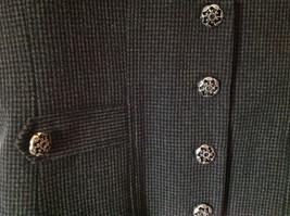Black Checkered Pattern 4 Button Closure Vest NO TAG Measurements Below image 2