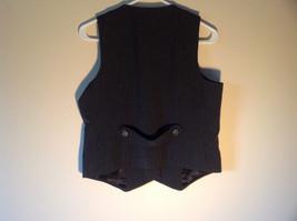 Black Checkered Pattern 4 Button Closure Vest NO TAG Measurements Below image 4