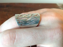 Thick Filigree Smooth Hammered Handcrafted 925 Sterling Silver Ring Size 7 OR 8 image 2