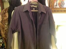 geoffrey beene shirt size 16 34/35  deep purple w greenish sheen wrinkle free