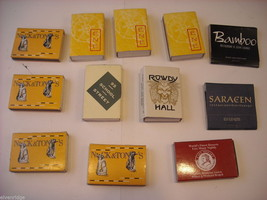 set of 12 Matchbooks and boxes from The Hamptons