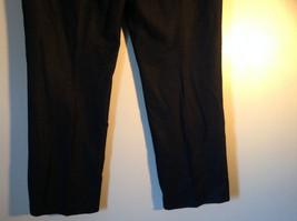 Black Checker Fabric Pattern Casual Pants 4 Pockets Antonio Melani Size 8 image 6