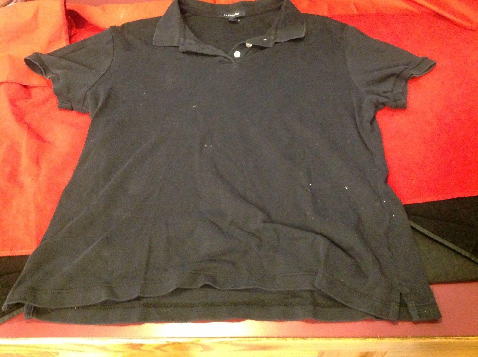 land's end black polo shirt size medium