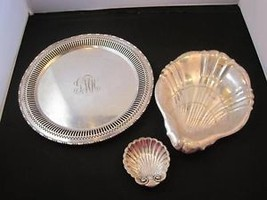 lots of Gorham silver platters - $34.64