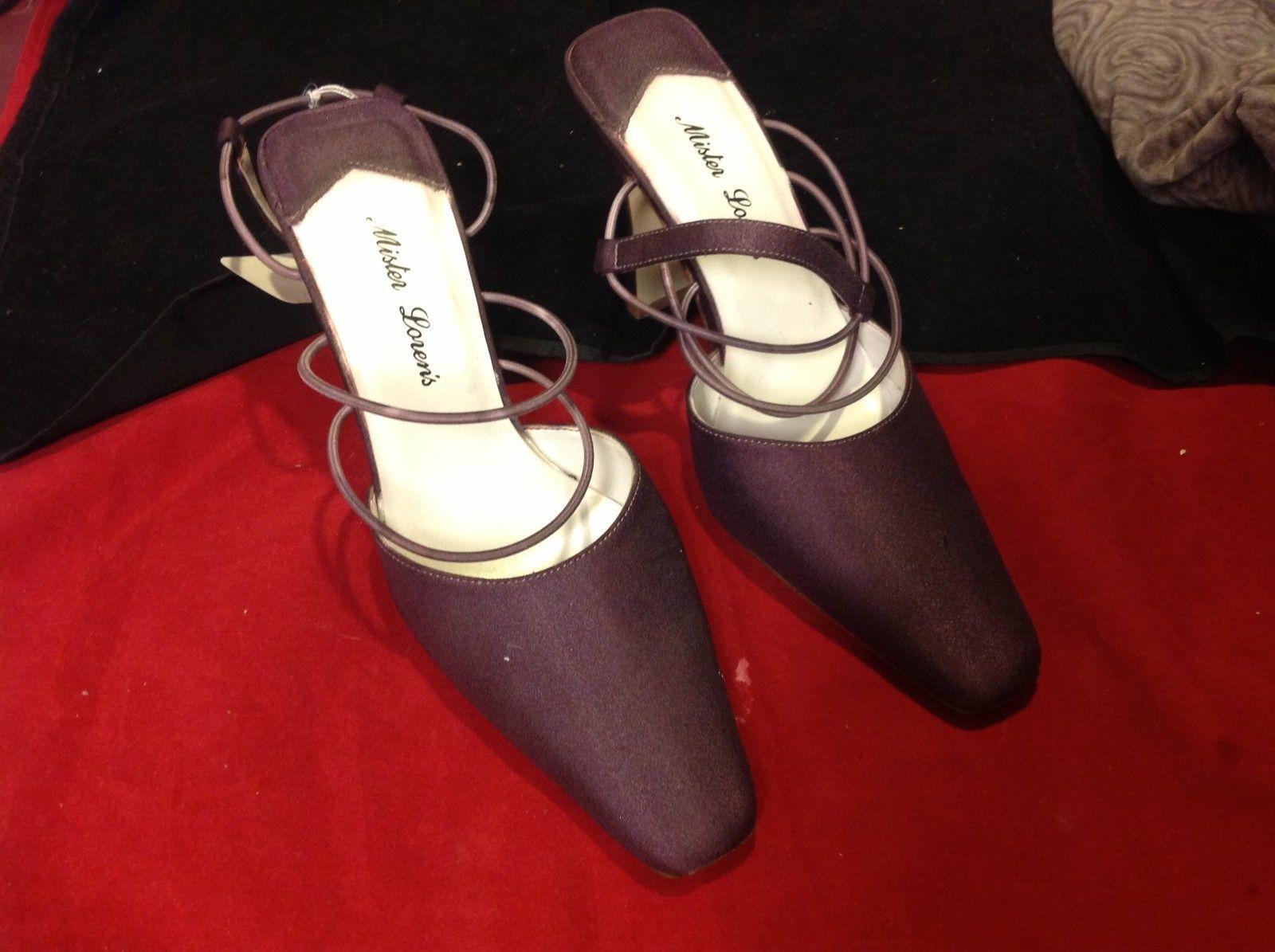 mister lorens purple 4 inch heel size 6.5
