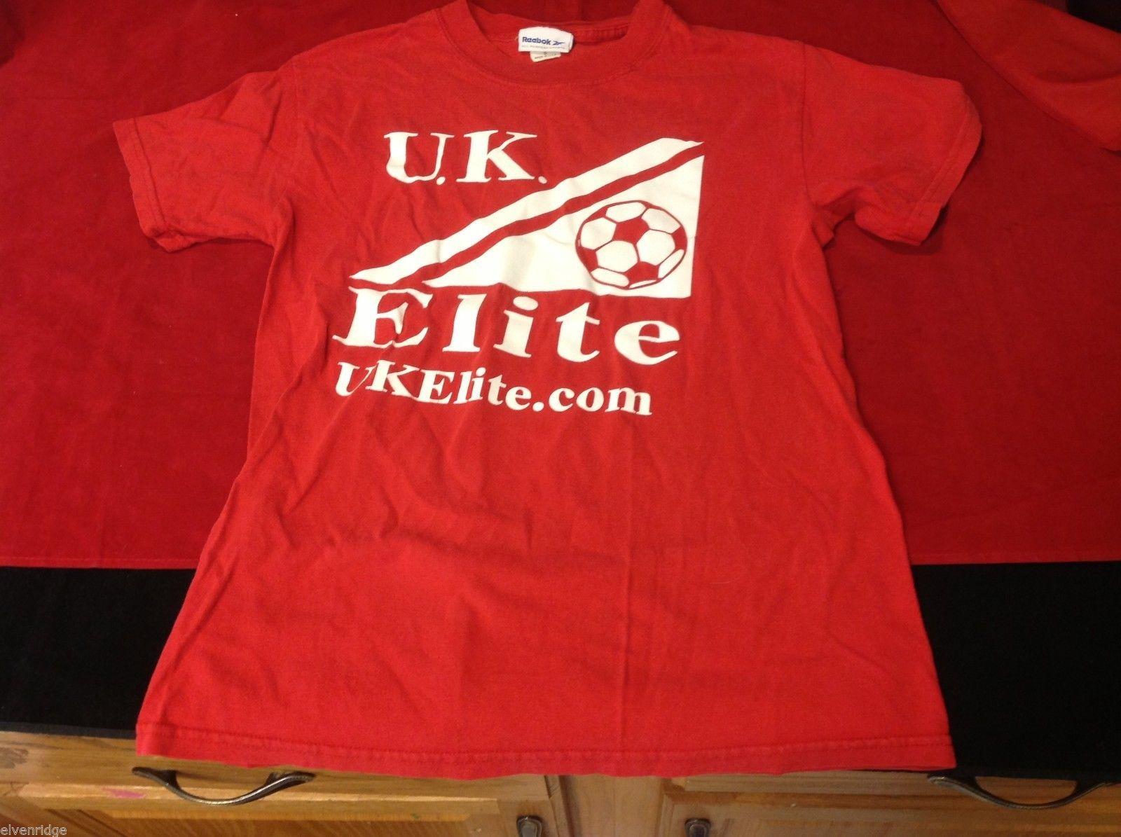 reebok men's t shirt red logo s small UK Elite Soccer theme