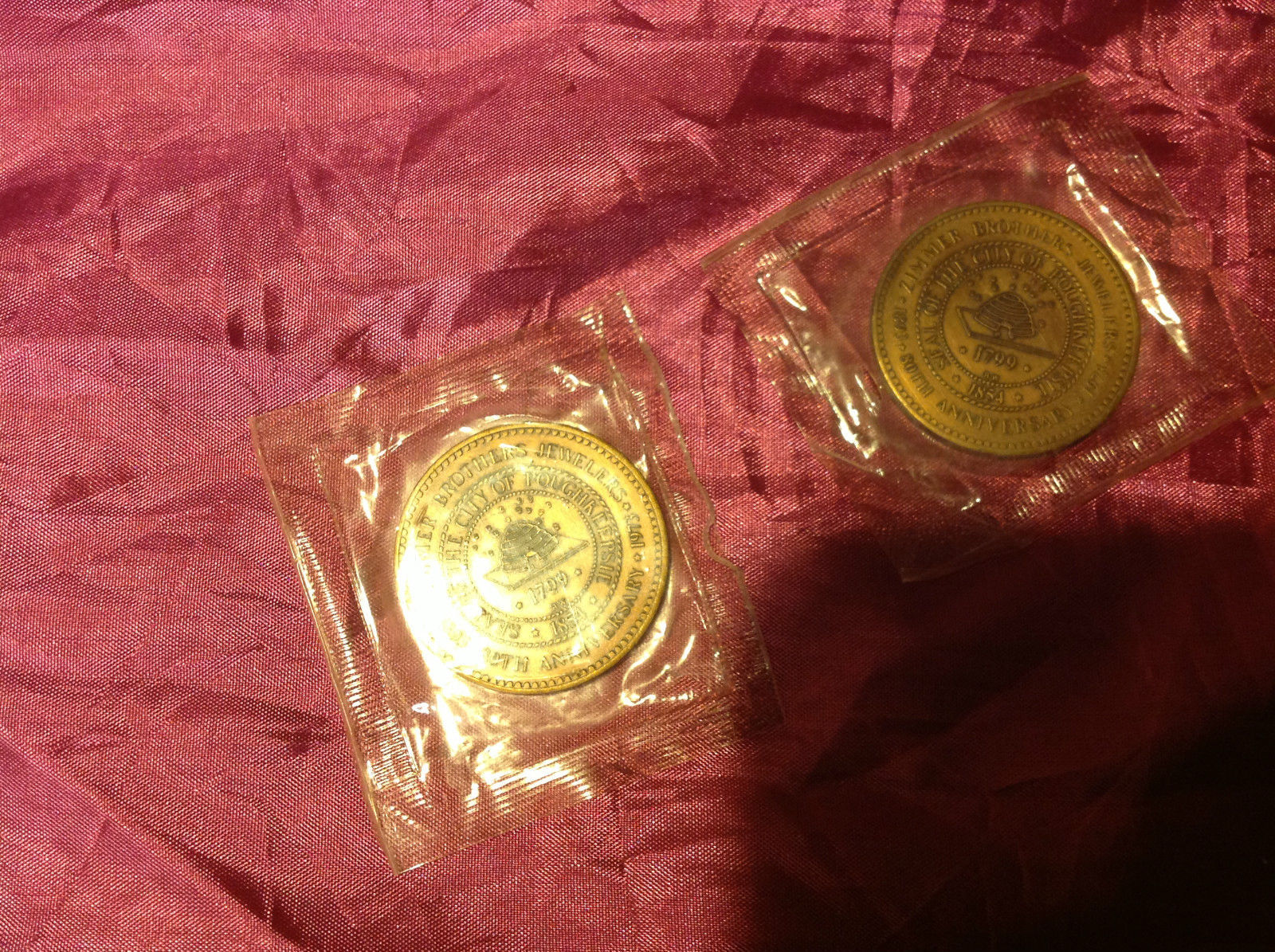 seal of the city of Poughkeepsie  bronze color coins