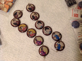 Big Lot of Priscilla Decoupage Beads - Flowers, Birds, Vintage Style, New image 6