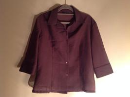 Three Piece Plum Blazer Shirt and Skirt Set by Woman size 10 M 38 image 4