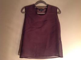 Three Piece Plum Blazer Shirt and Skirt Set by Woman size 10 M 38 image 2