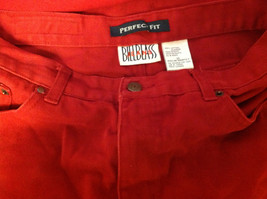 Bill Blass Brand Perfect Fit Womens Bold Red Colored Denim Jeans size 10 image 2