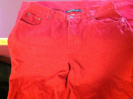 Bill Blass Brand Perfect Fit Womens Bold Red Colored Denim Jeans size 10 image 3