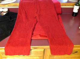 Bill Blass Brand Perfect Fit Womens Bold Red Colored Denim Jeans size 10 image 4