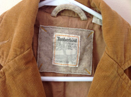 Timberland Brown Corduroy Jacket 2 Front Pockets 3 Button Closure Size 8 image 2