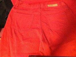 Bill Blass Brand Perfect Fit Womens Bold Red Colored Denim Jeans size 10 image 5