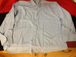 Tiatteli Mens Light Blue Long Sleeve Dress Shirt Made in Italy Size 16 Regular image 3