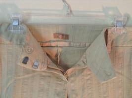 Twenty One Size Medium Cream Colored Striped Casual Pants Stretchy Waist image 4