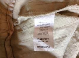 Twenty One Size Medium Cream Colored Striped Casual Pants Stretchy Waist image 6