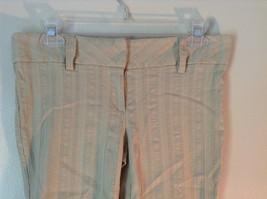 Twenty One Size Medium Cream Colored Striped Casual Pants Stretchy Waist image 3