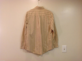 Timberland Striped Light Brown Beige Casual 100% cotton Shirt, Size M image 2
