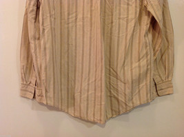 Timberland Striped Light Brown Beige Casual 100% cotton Shirt, Size M image 6
