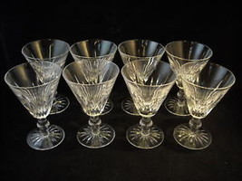 set of 8 cut glass stemware
