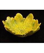 small delphinium green yellow leaf ceramic trinket bowl - $44.54