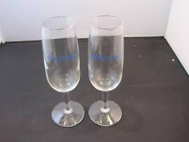 "set of 2 ""cheers, in NYC"" champagne glasses"