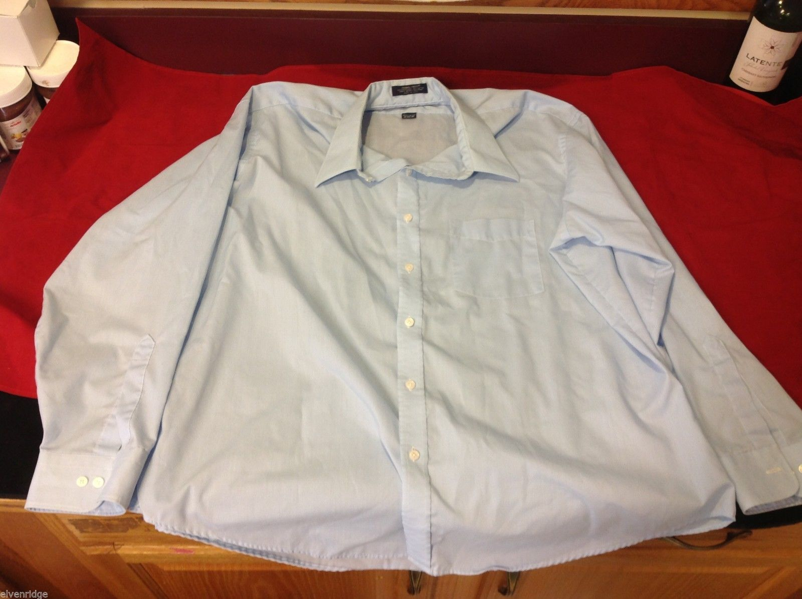 stratum light blue dress shirt size 18 - 34/35