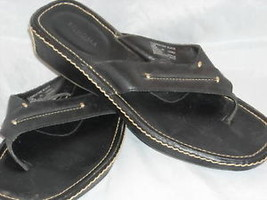 women's Sonoma black thong wedge sandals size 7 1/2