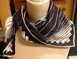 vintage scarfs 2 multiple color 26 inch squares black white blue Venezia