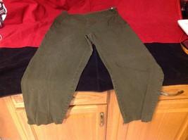 valerie stevens denim green jeans size 12