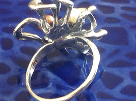 Unique Eclectic Sterling Silver White Mocha Three Pearl Ring Size Choice 7 or 8 image 5