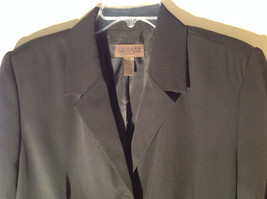 UNIFORM John Paul Richard Pure Black Jacket Blazer Shoulder Pads Size 16 image 2