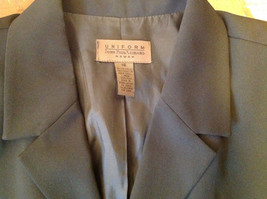 UNIFORM John Paul Richard Pure Black Jacket Blazer Shoulder Pads Size 16 image 8