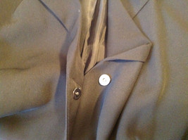 UNIFORM John Paul Richard Pure Black Jacket Blazer Shoulder Pads Size 16 image 9