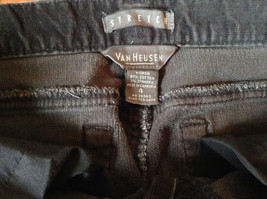 Van Heusen Stretch Black Corduroy Casual Pants Size 4 image 3