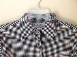 Very Cute Real Comfort Black and White Checkered Button Up Shirt Size Small image 3