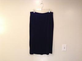 Black Annex Casual Corner Velvet Skirt Size 1X Elastic Waist Slits Back and Side image 2