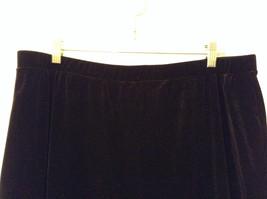 Black Annex Casual Corner Velvet Skirt Size 1X Elastic Waist Slits Back and Side image 3