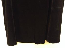 Black Annex Casual Corner Velvet Skirt Size 1X Elastic Waist Slits Back and Side image 7