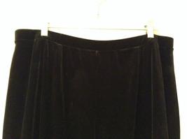 Black Annex Casual Corner Velvet Skirt Size 1X Elastic Waist Slits Back and Side image 5