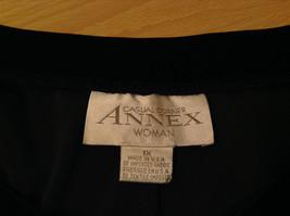 Black Annex Casual Corner Velvet Skirt Size 1X Elastic Waist Slits Back and Side image 8
