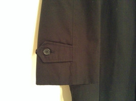 Black All Weather Trench Coat Size 46 Short Thermolite Insulating Lining image 3
