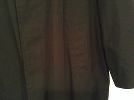 Black All Weather Trench Coat Size 46 Short Thermolite Insulating Lining image 4