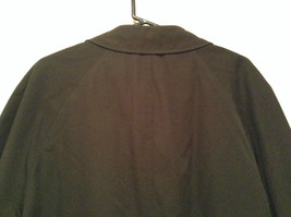 Black All Weather Trench Coat Size 46 Short Thermolite Insulating Lining image 6